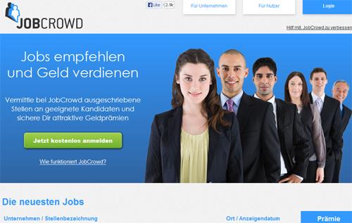 Screenshot: www.jobcrowd.de