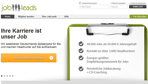 Screenshot: http://www.jobleads.de