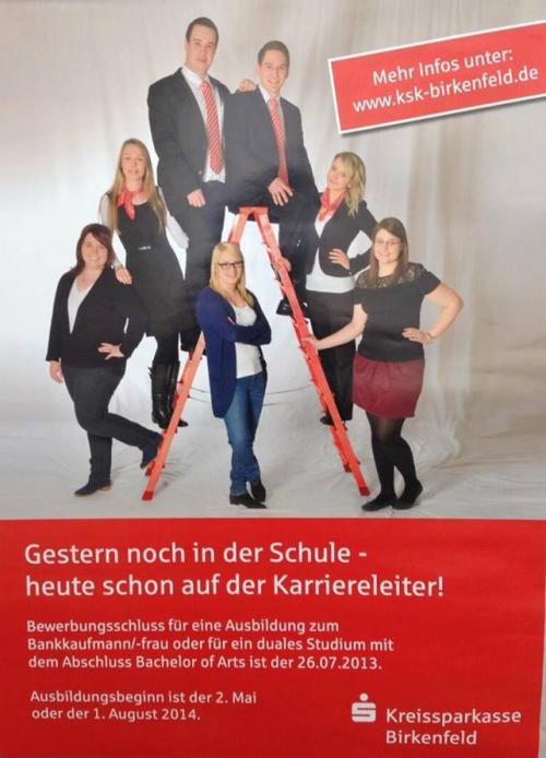 Bild von: http://blog.recrutainment.de/2013/06/30/gender-fail-fundstuck-zum-wochenstart-kreissparkasse-birkenfeld-mit-katastrophaler-stellenanzeige/