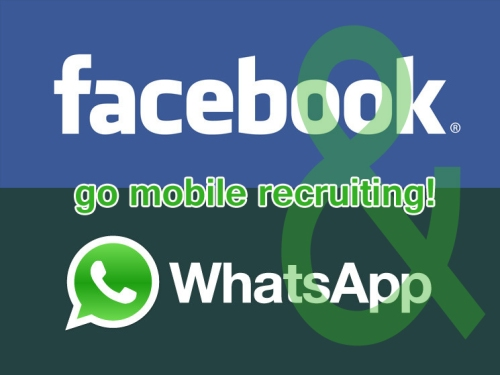Logo Facebook & Whatsapp go mobile recruiting