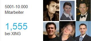 Mitarbeiterbilder im Employer Branding Profil