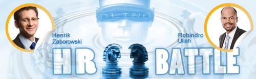 Die Kontrahenten im 1. Blind HR Battle sind angetreten.