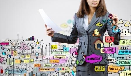 Manager reden über Zahlen Daten Fakten