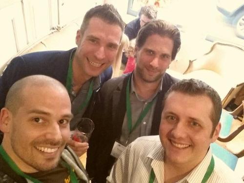 Das obligatorische Selfie vorher mit Jürgen Sorg, Florian Schrodt und Tim Verhoeven
