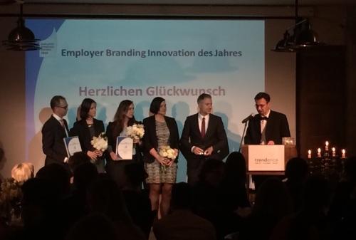 Preisträger des Trendence Awards Beste Employer Branding Innovation 2014.