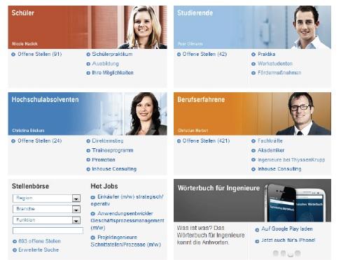 Thyssen-Krupp Karriere-Homepage
