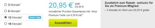 Die Preise und Rabatte für die XING ProJobs Mitgliedschaft Premium