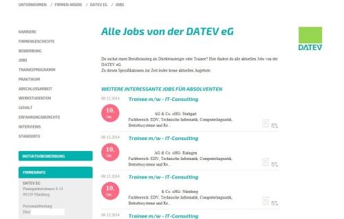 Screenshot: Alle aktuellen Jobs des Unternehmens. Oder eben nicht.
