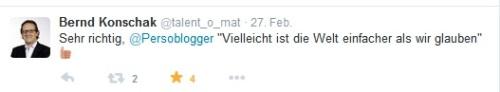 Tweet Bernd Konschak auf HRBC15