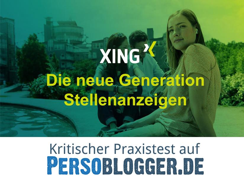 XING Stellenmarkt Praxistest Logo Persoblogger.de