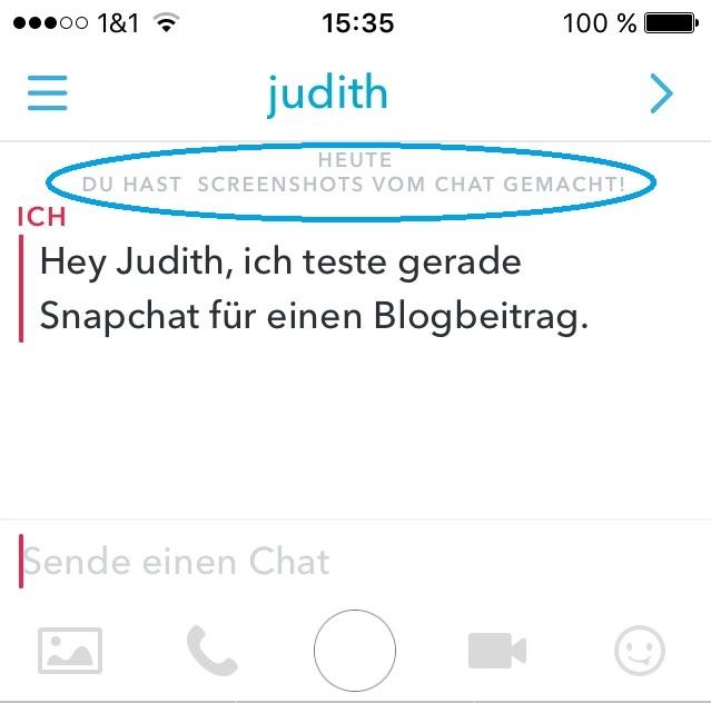 Screenshots machen via Snapchat